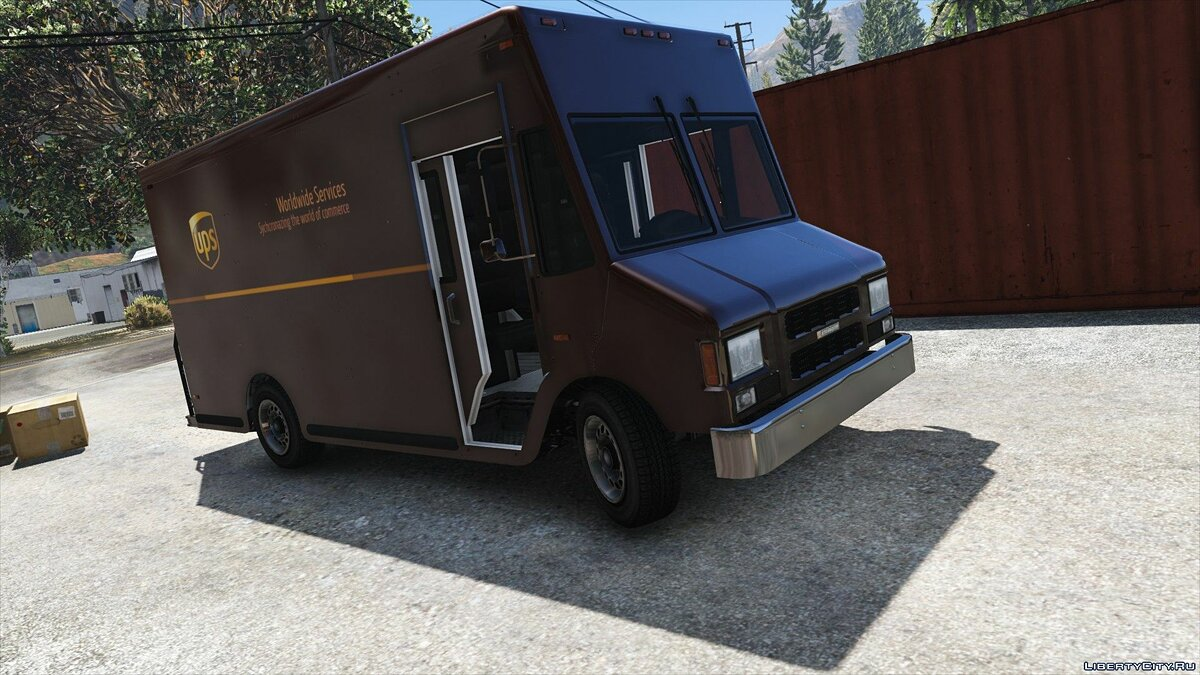 Boxville2 with Static Sliding Doors + UPS Skin 1.1 для GTA 5 - скриншот #2