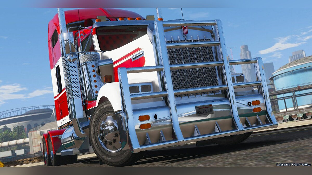 Грузовик 2014 Kenworth W900 6x2 Mid Cab [Livery / Extras / Add-On / Replace] 1.2 для GTA 5
