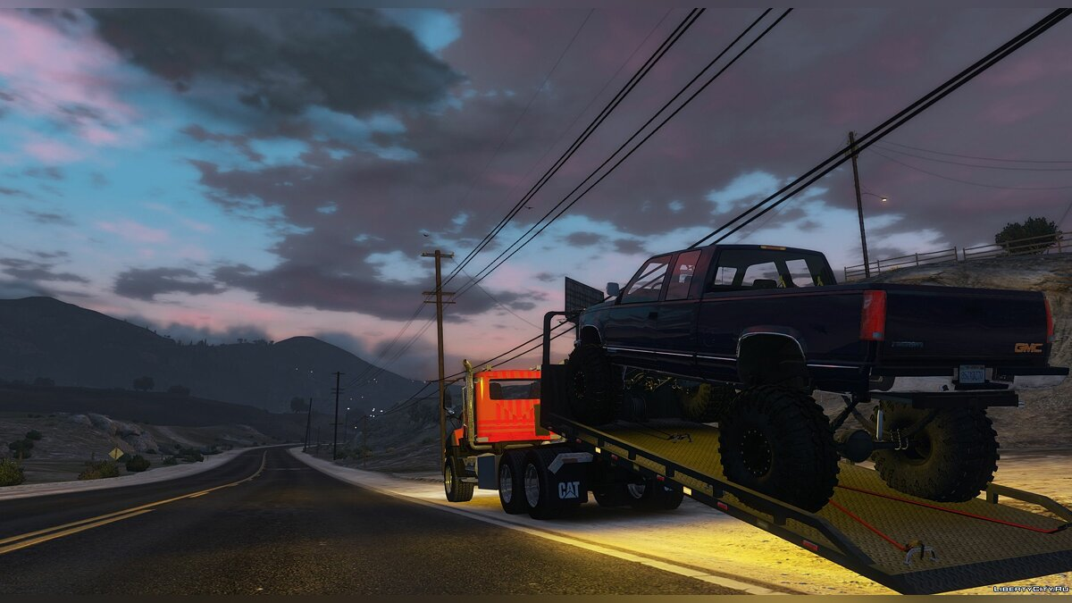 Грузовик 2016 CAT CT660 Tow Truck [NoN-ELS][Livery][Add-On] 1.0 для GTA 5
