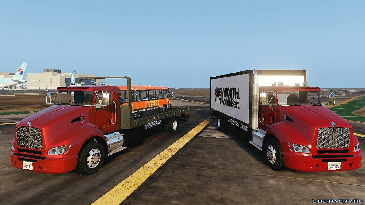 2012 Kenworth T440 Box / Flatbed Truck [Template] 1.0 для GTA 5