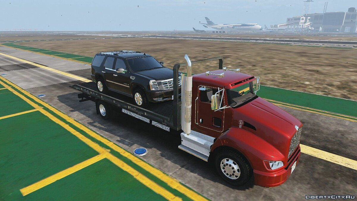 2012 Kenworth T440 Box / Flatbed Truck [Template] 1.0 для GTA 5 - скриншот #3