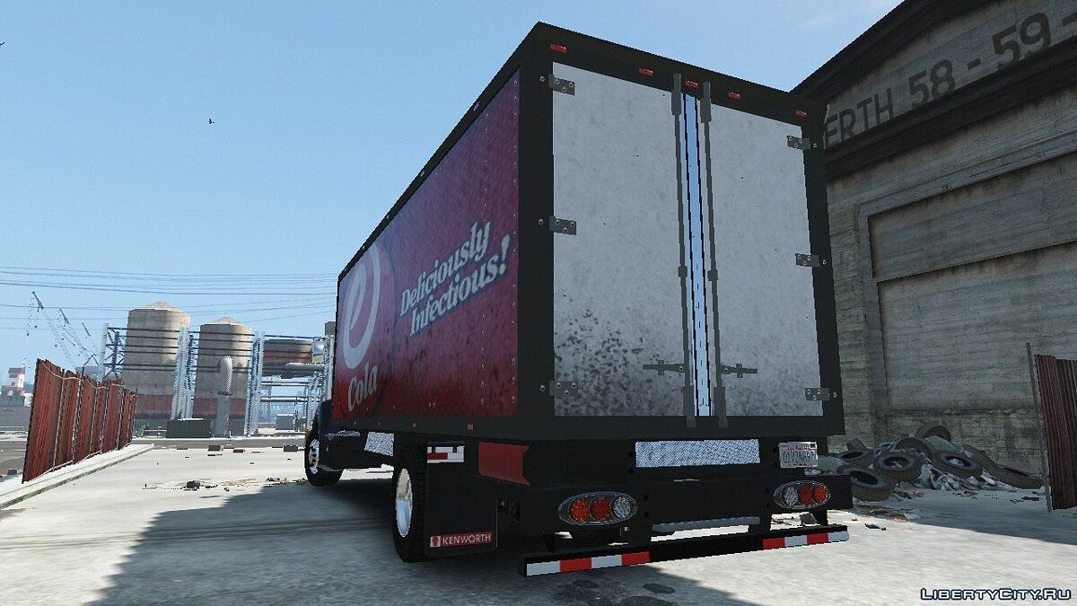 2012 Kenworth T440 Box / Flatbed Truck [Template] 1.0 для GTA 5 - скриншот #8