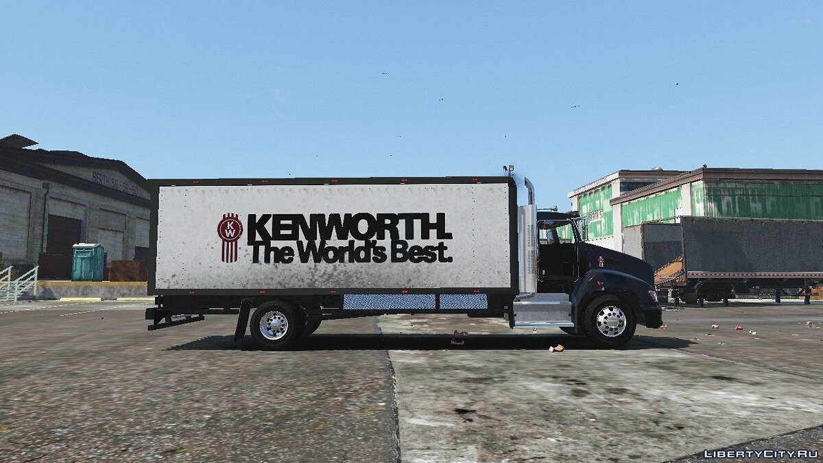 2012 Kenworth T440 Box / Flatbed Truck [Template] 1.0 для GTA 5 - скриншот #7