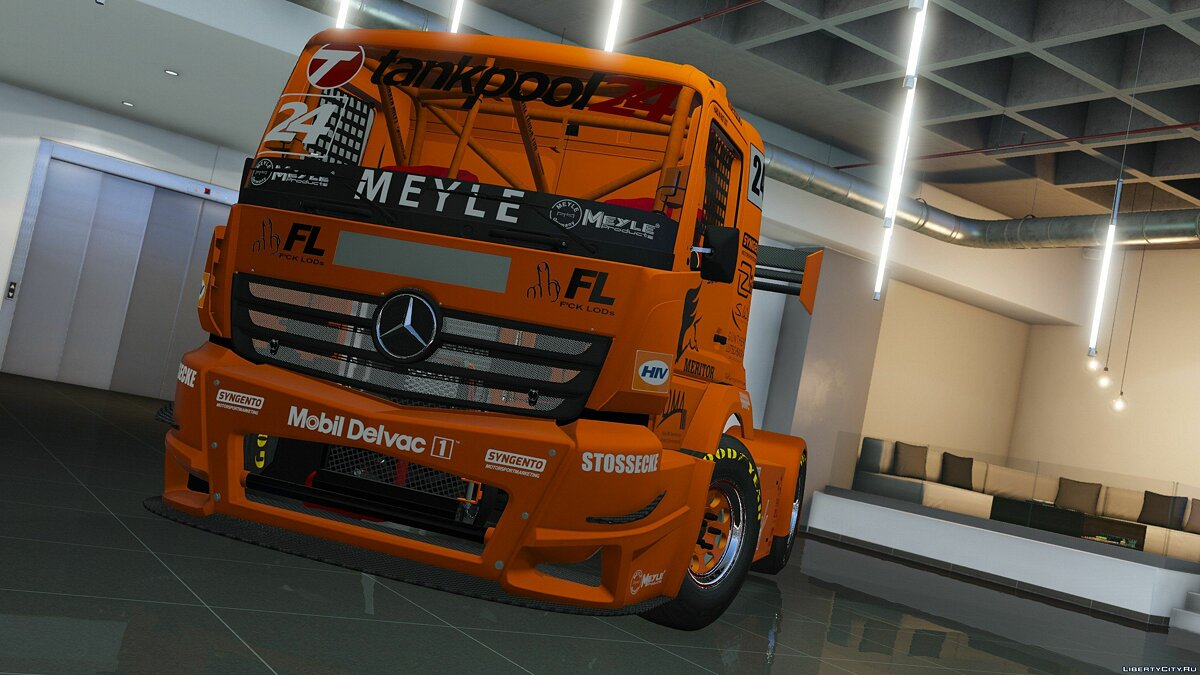 ��рузовик MERCEDES-BENZ #24 TANKPOOL RACING TRUCK 2015 [ADDON | ANIMATED] 1.01 для GTA 5