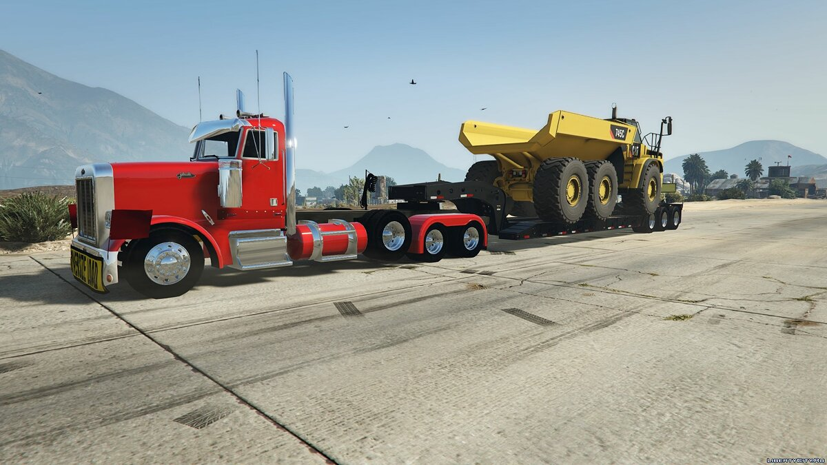 Грузовик 2018 Caterpillar 745C Offroad Dump Truck [ ADD-ON] 1.0 для GTA 5