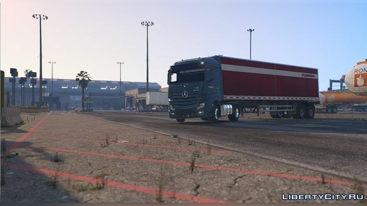 Mercedes Actros Planzer with two Planzer's Trailers для GTA 5