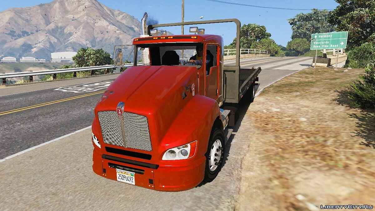 2012 Kenworth T440 Box / Flatbed Truck [Template] 2.0 для GTA 5