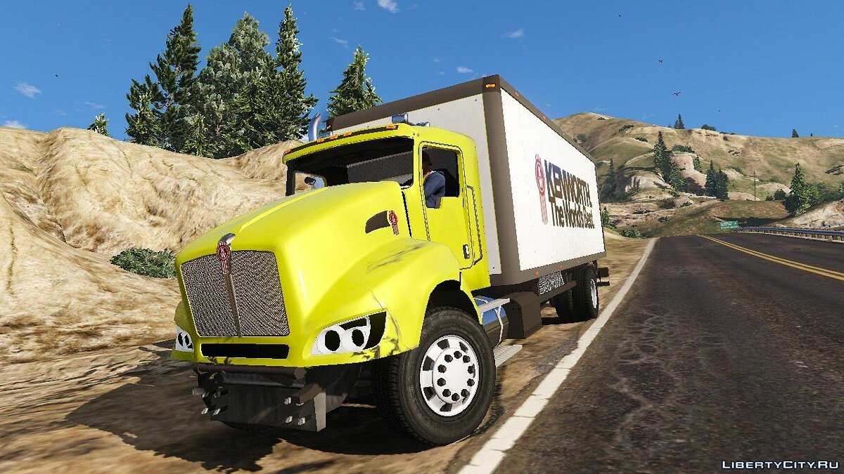 2012 Kenworth T440 Box / Flatbed Truck [Template] 2.0 для GTA 5 - скриншот #2
