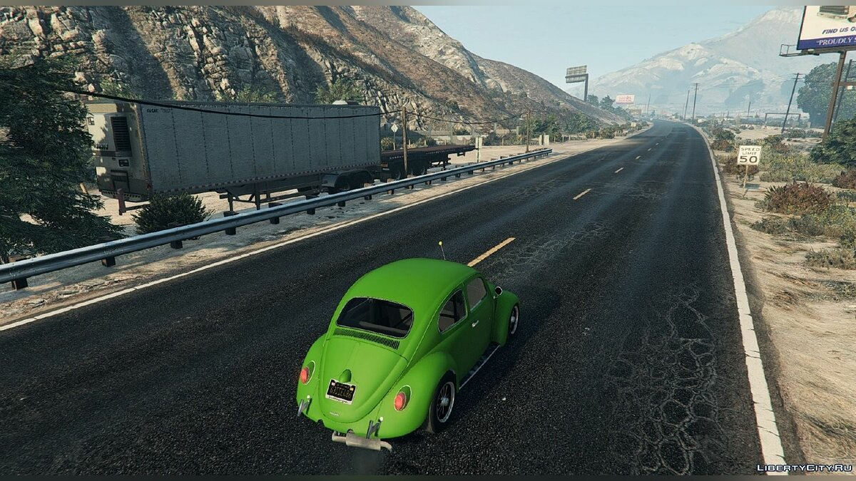 1963 Volkswagen Beetle (Cal Look) [BETA] для GTA 5 - скриншот #3
