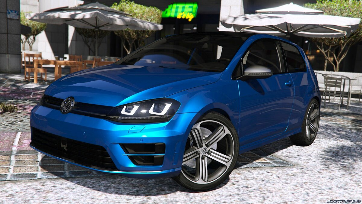 Машина Volkswagen Volkswagen Golf VII R 2014 [Add-on / Replace | Tuning] 1.0 для GTA 5