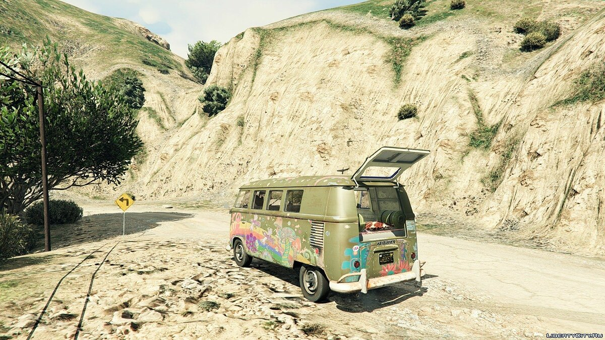 1960 Volkswagen Bus (Rat) 1.1 для GTA 5 - скриншот #2