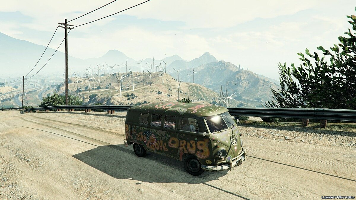 1960 Volkswagen Bus (Rat) 1.1 для GTA 5 - скриншот #3