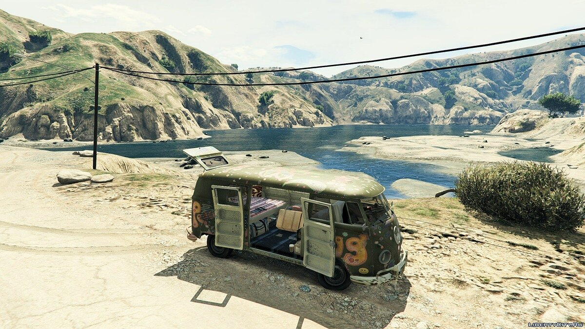 1960 Volkswagen Bus (Rat) 1.1 для GTA 5 - скриншот #4