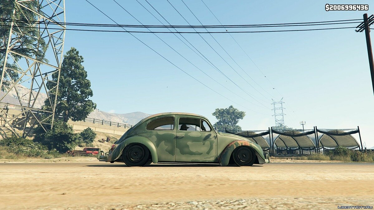 1963 Volkswagen Beetle Rat [BETA 1] для GTA 5 - скриншот #4