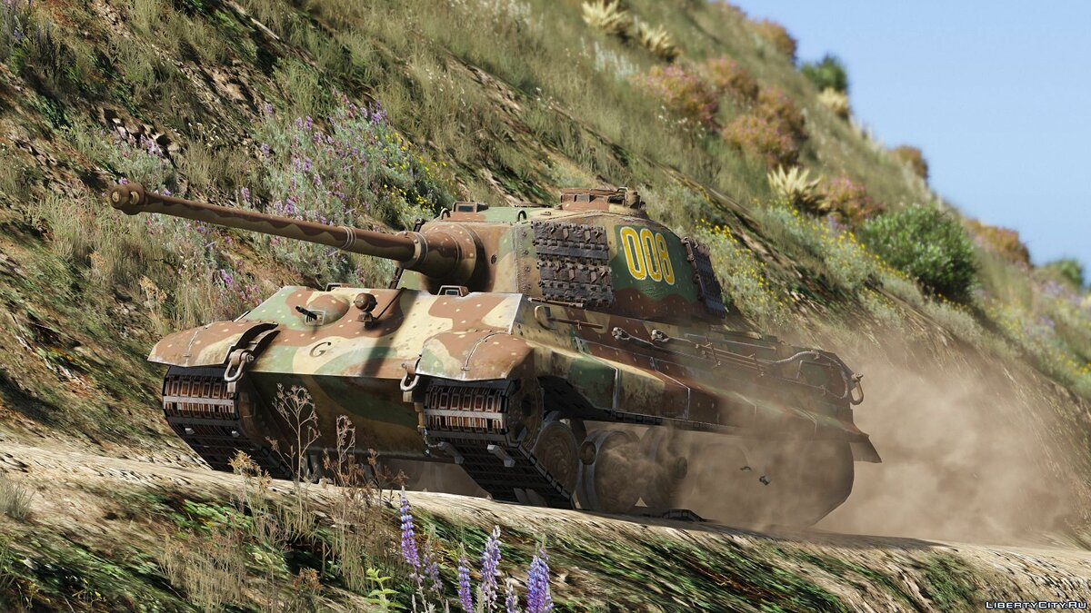 Военная машина Pz.Kpfw. VI Tiger II Ausf. B (H) (Add-On) 1.0 для GTA 5