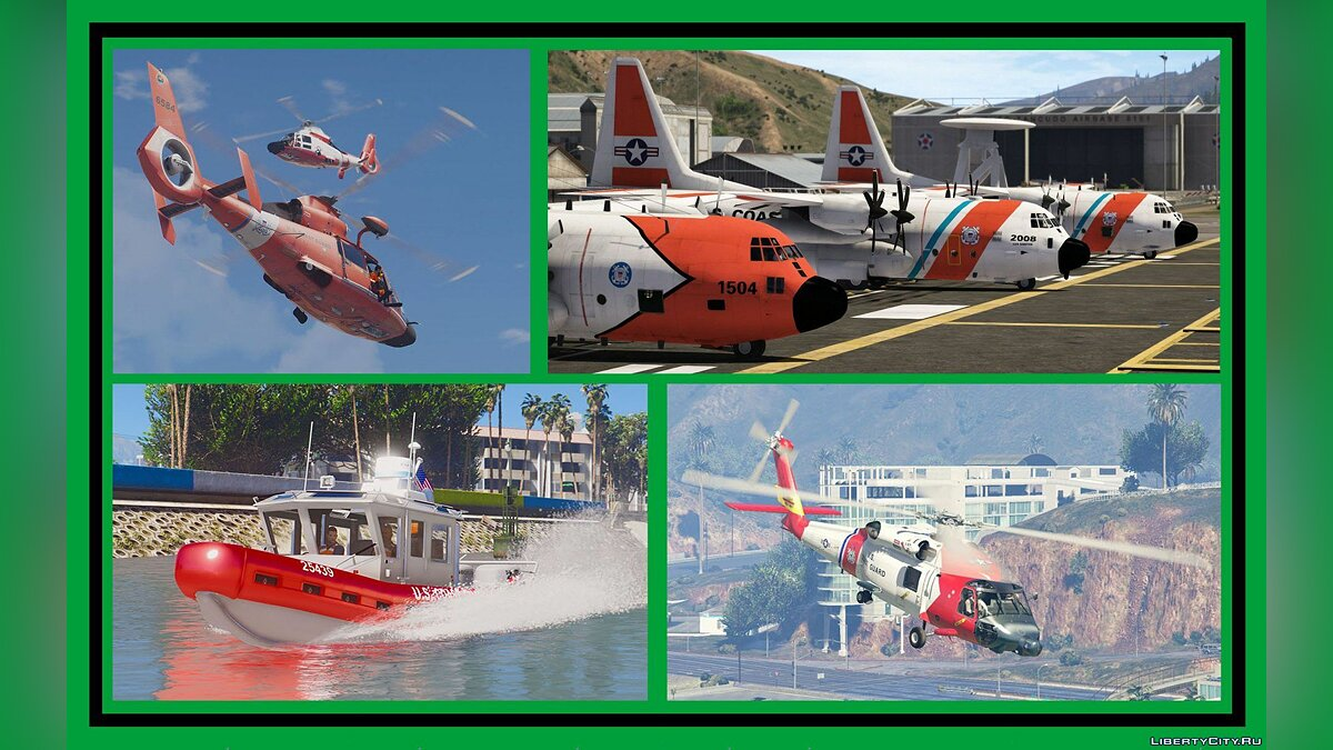 ��оенная машина US Coast Guard Pack [Add-On] 2.0 для GTA 5