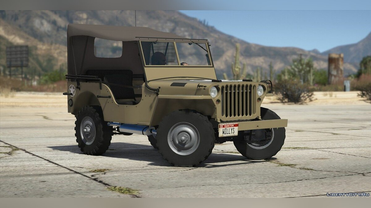 Военная машина Jeep Willys MB [Add-On | Replace | Livery | Extras | Template] 1.1 для GTA 5