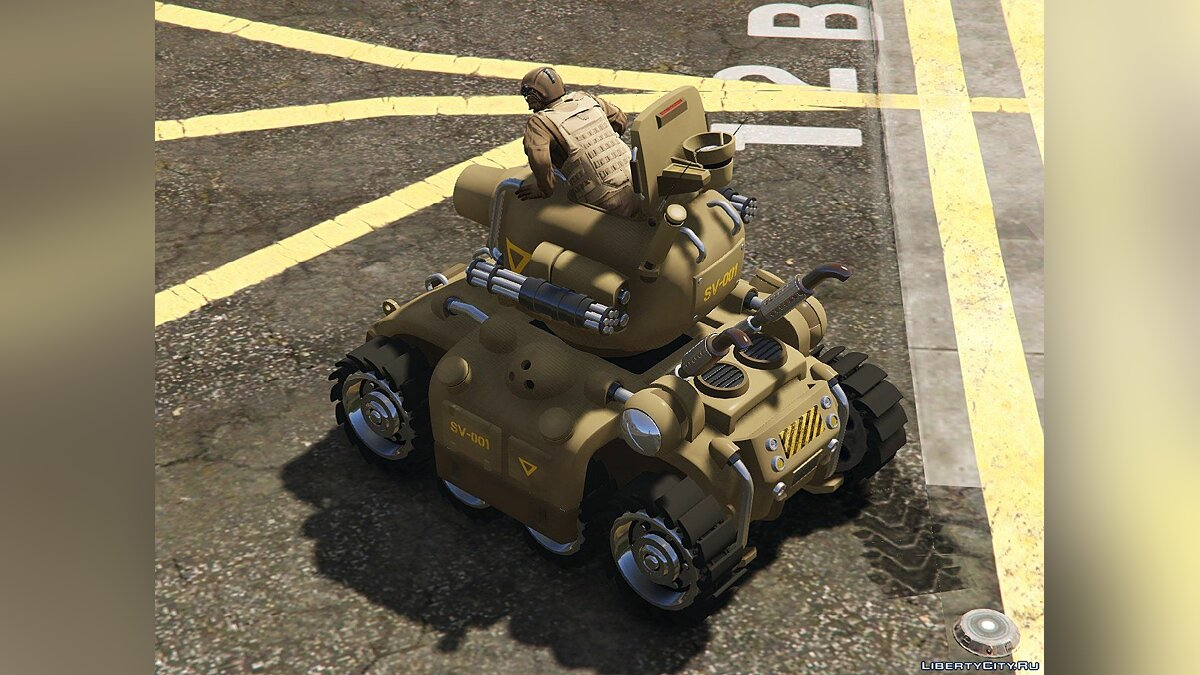 ��оенная машина Metal Slug SV-001 [Add-On | Livery] 1.3.1 для GTA 5