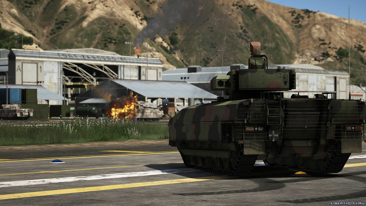 Военная машина Puma IFV [Lock-On missiles / 10 seats / Add-On] 1.0 для GTA 5