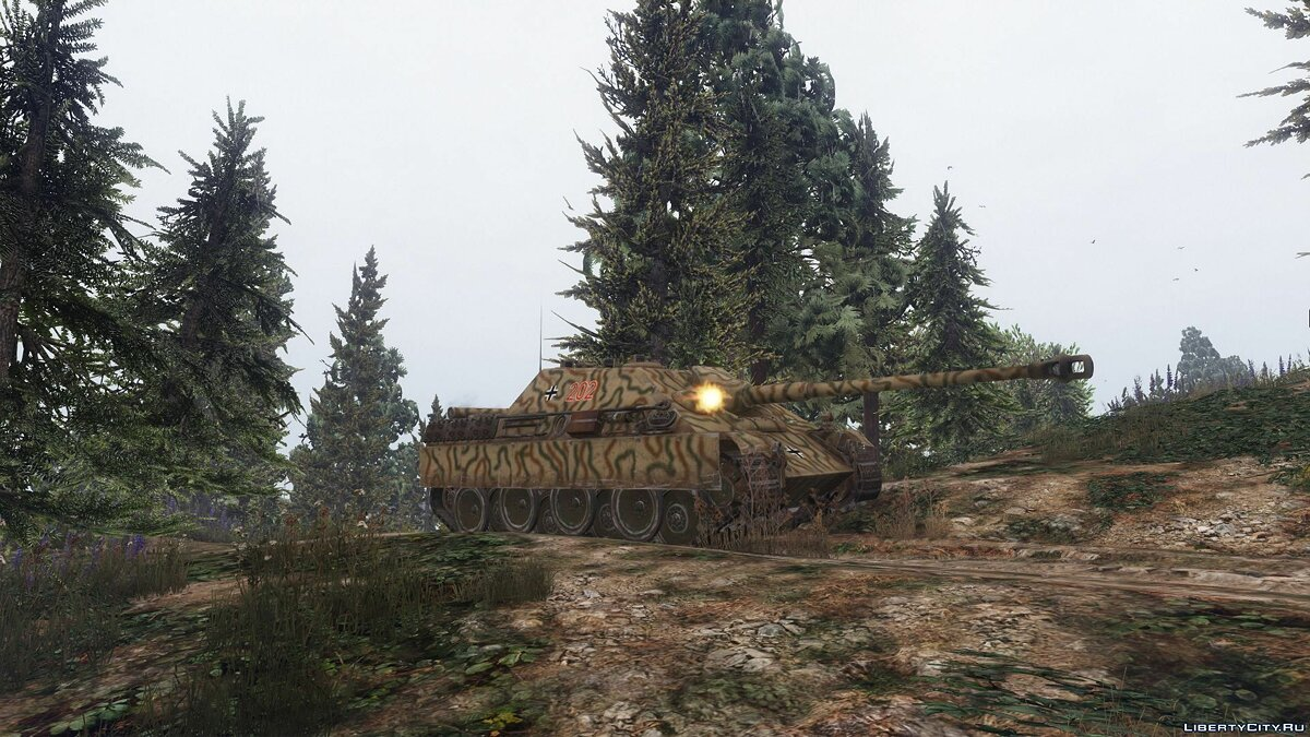 Военная машина Jagdpanther Tank Destroyer [Add-On] 1.0 для GTA 5
