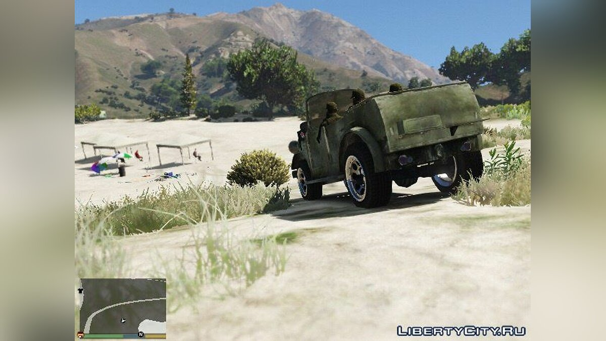 World War II Jeep для GTA 5 - скриншот #4