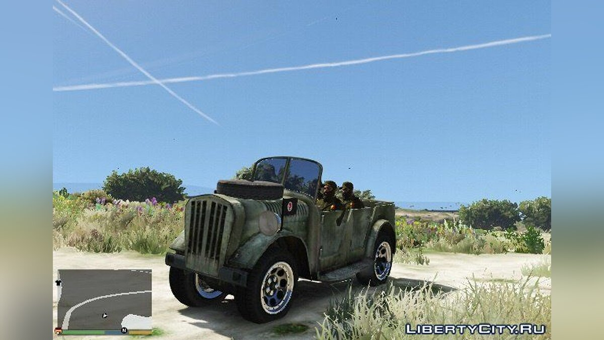 World War II Jeep для GTA 5 - скриншот #5