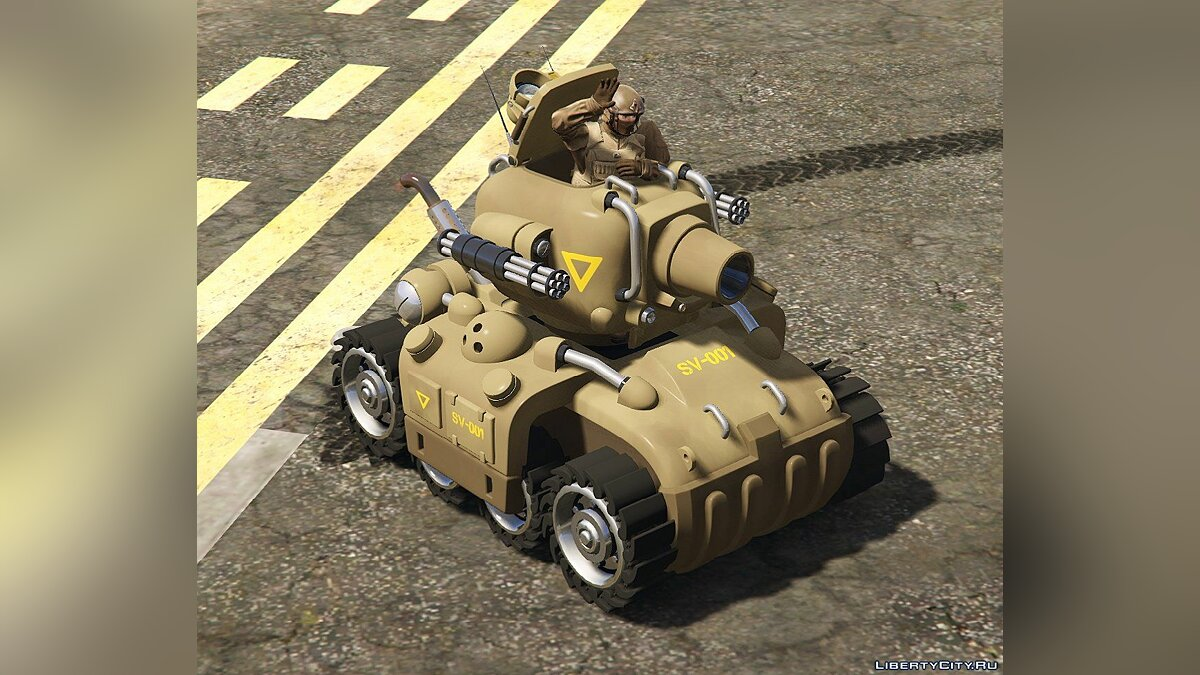 ��оенная машина Metal Slug SV-001 [Add-On | Livery] 1.2.1b для GTA 5