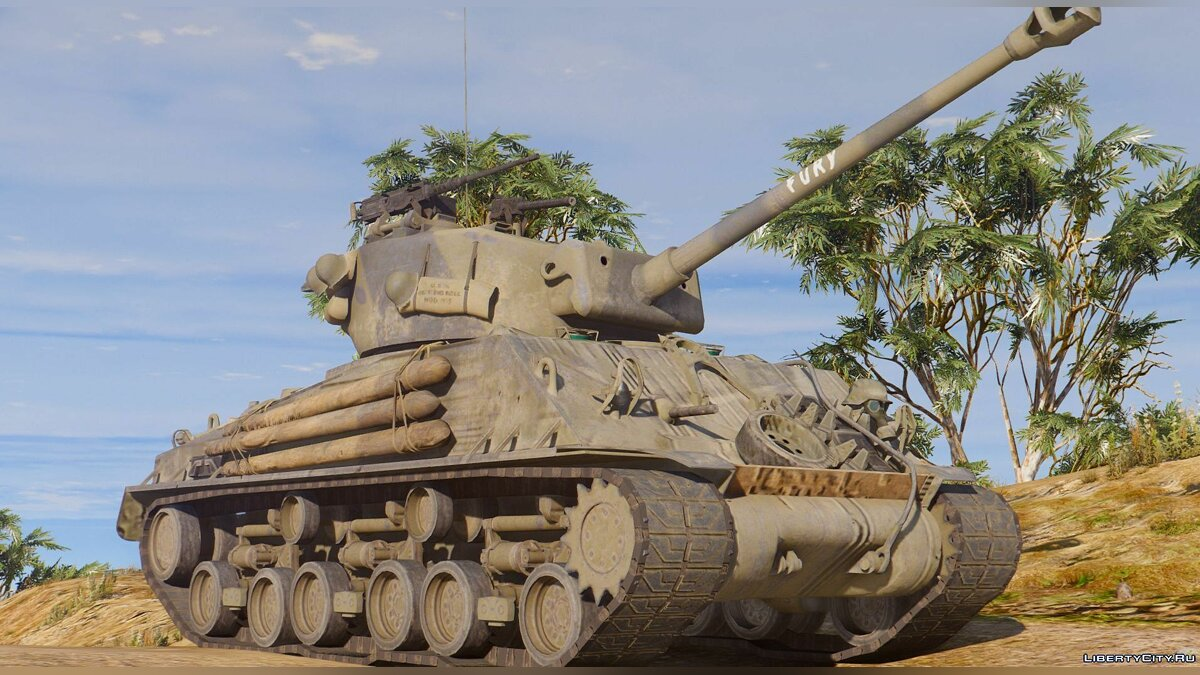 "M4A3E8 Sherman ""Fury"" 1.1 для GTA 5"