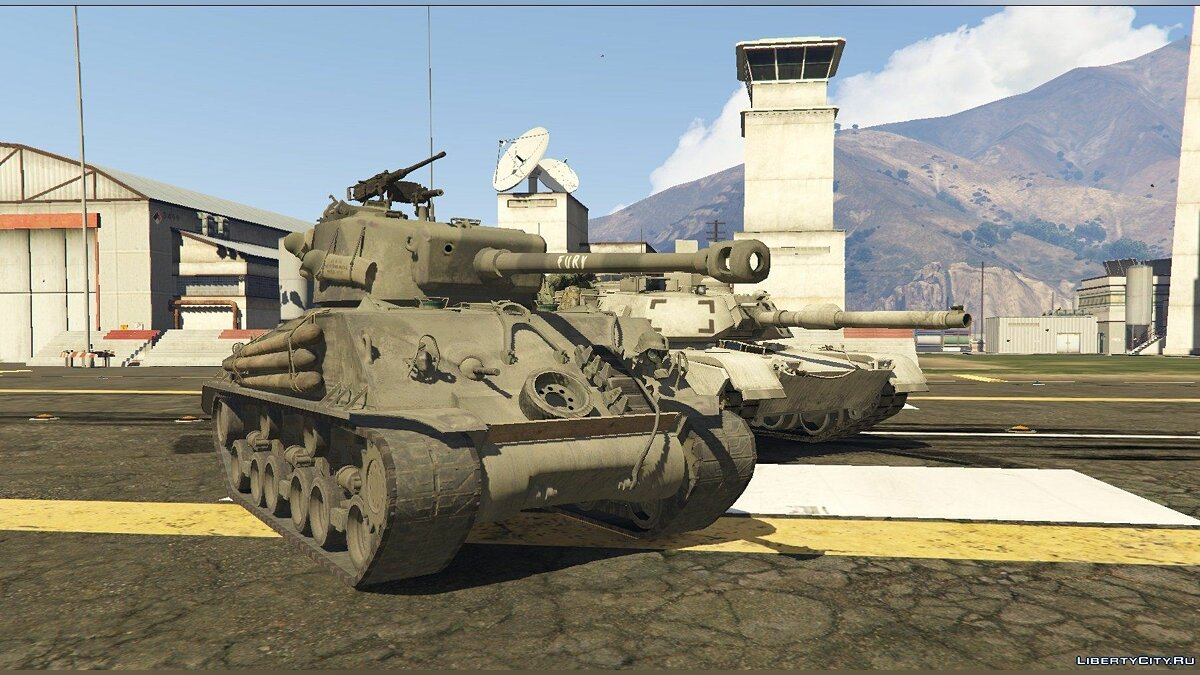 "M4A3E8 Sherman ""Fury"" 1.1 для GTA 5 - скриншот #3"