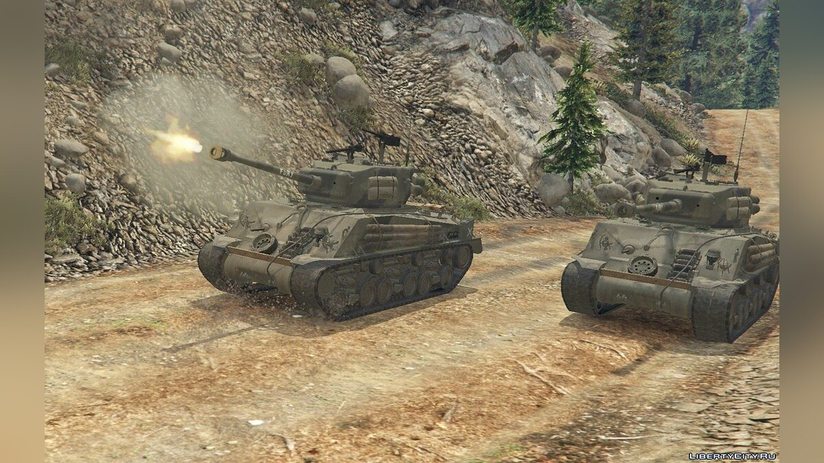"M4A3E8 Sherman ""Fury"" 1.1 для GTA 5 - скриншот #4"