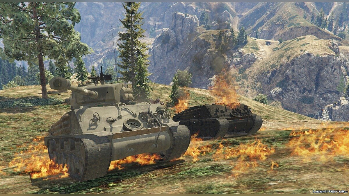 "M4A3E8 Sherman ""Fury"" 1.1 для GTA 5 - скриншот #5"