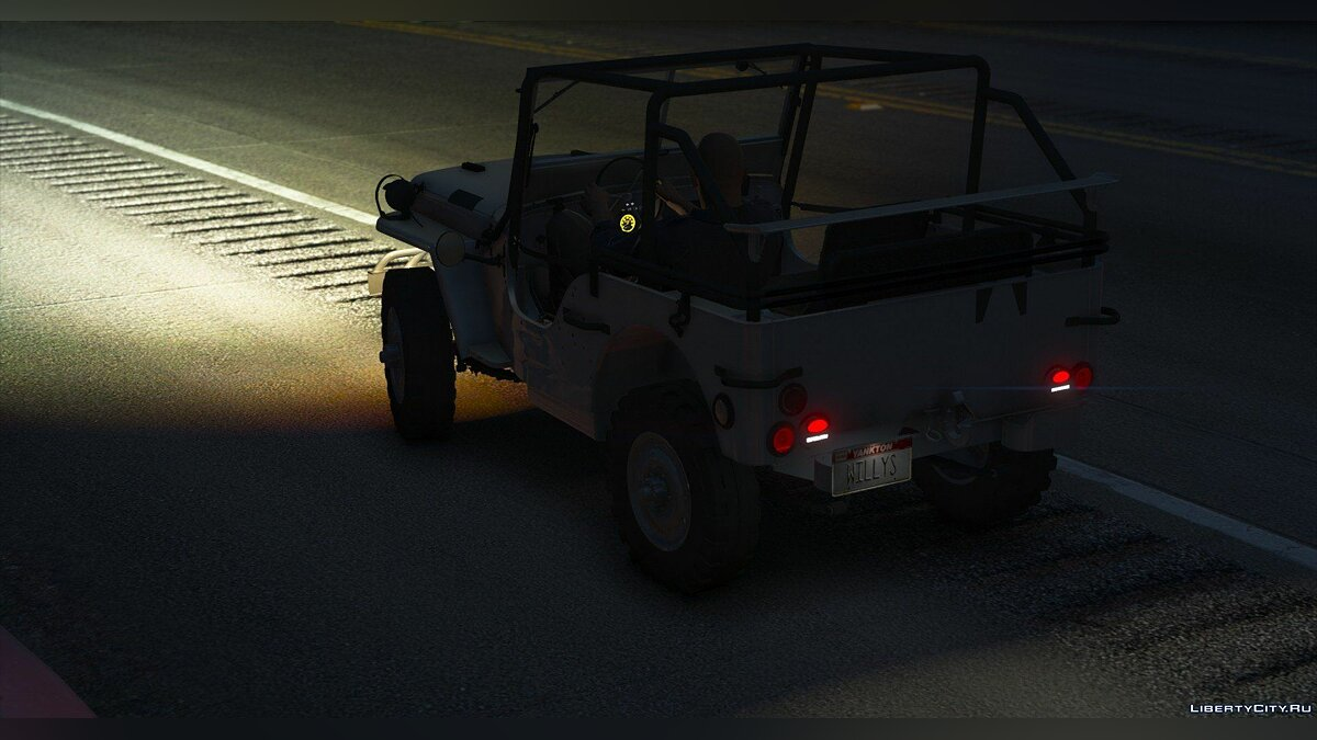 Военная машина Jeep Willys MB [Add-On Extras ] 1.0 для GTA 5