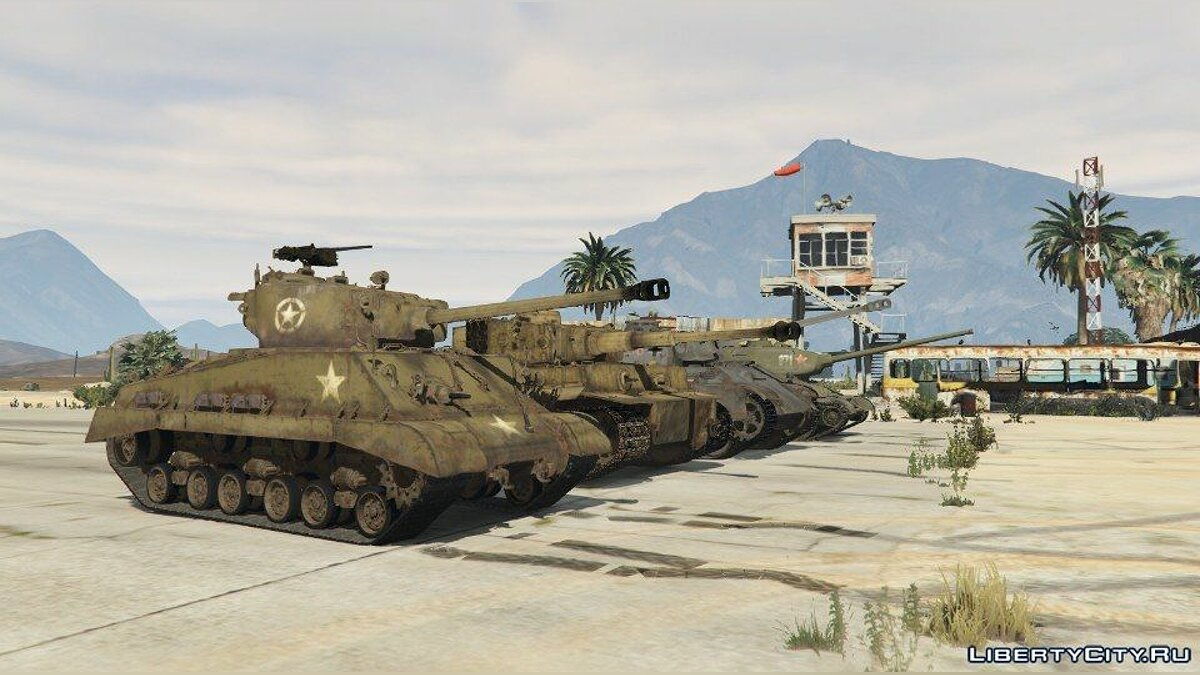 World War II Tanks Pack 1.0 для GTA 5