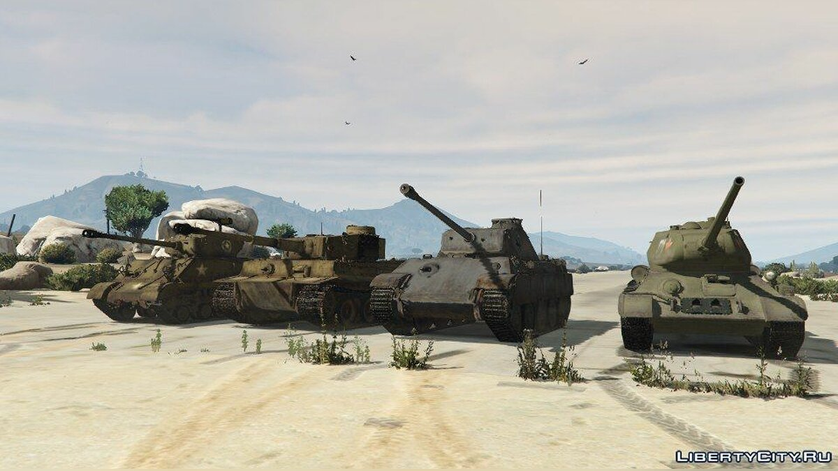 World War II Tanks Pack 1.0 для GTA 5 - скриншот #2