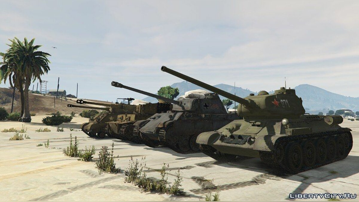 World War II Tanks Pack 1.0 для GTA 5 - скриншот #6