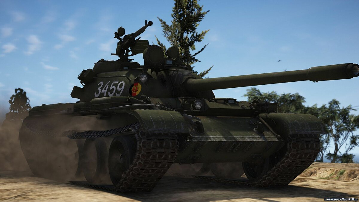 Военная машина T-55A / T-55AM-1 [Add-On | Tuning] 1.0 для GTA 5
