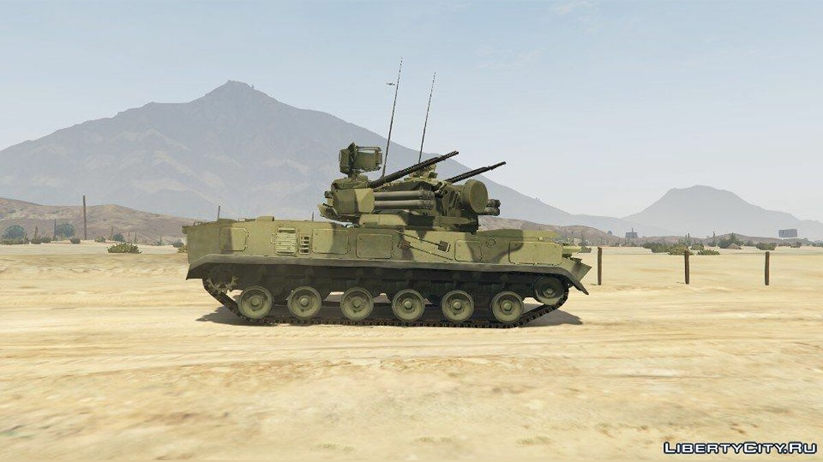 "2K22 ""Tunguska-M"" Gun/Missile Air Defence System (ADD-ON) для GTA 5"