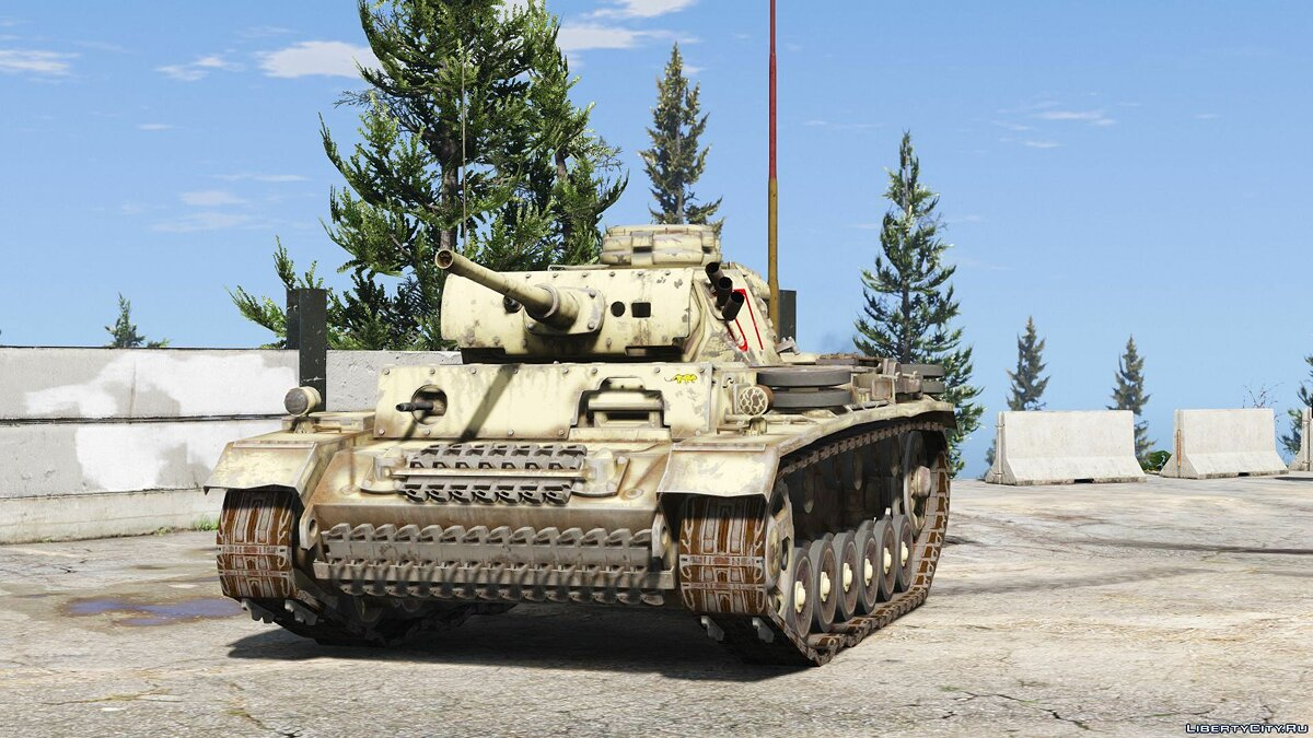 Военная машина Flammpanzer III (Flamethrower tank) [Add-On] 1.0 для GTA 5