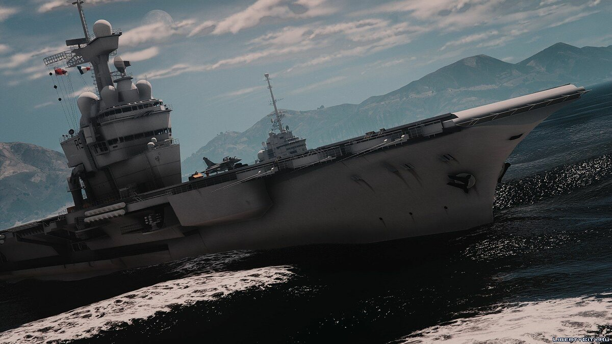 Лодка и катер French aircraft carrier Charles de Gaulle [Add-on] V1 для GTA 5