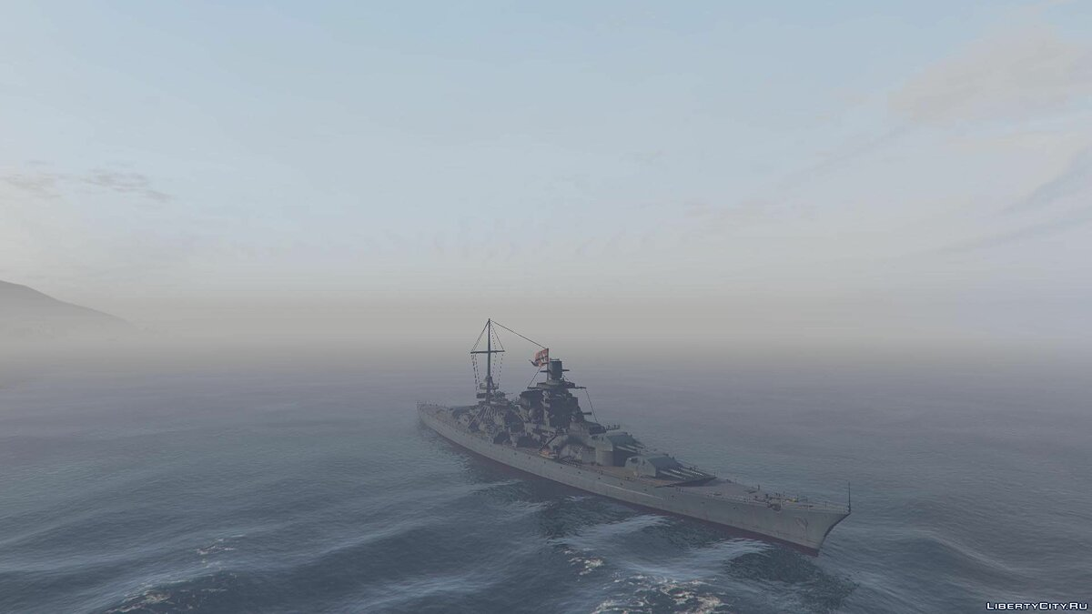 Лодка и катер Scharnhorst Battleship [Add-On] для GTA 5