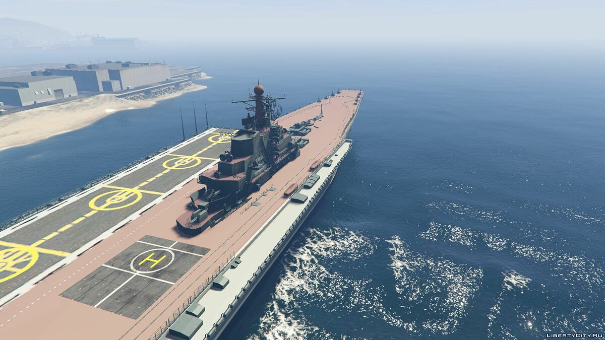 Лодка и катер Drivable Aircraft Carrier [Add-On] для GTA 5