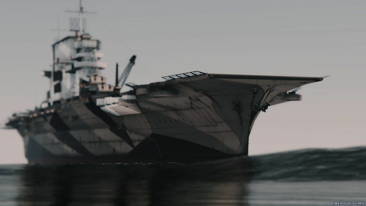 ��одка и катер Lexington-Class Aircraft Carrier ✪ USS Lexington & USS Saratoga【ADD-ON】 1.0 для GTA 5