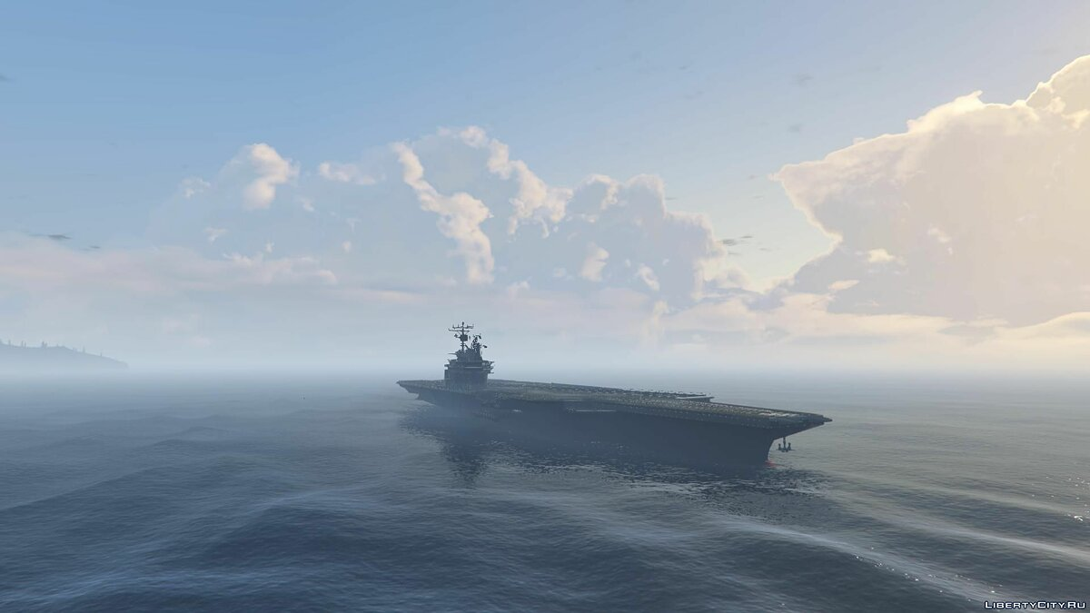 Лодка и катер Drivable enhanced aircraft carrier [Add-On] для GTA 5