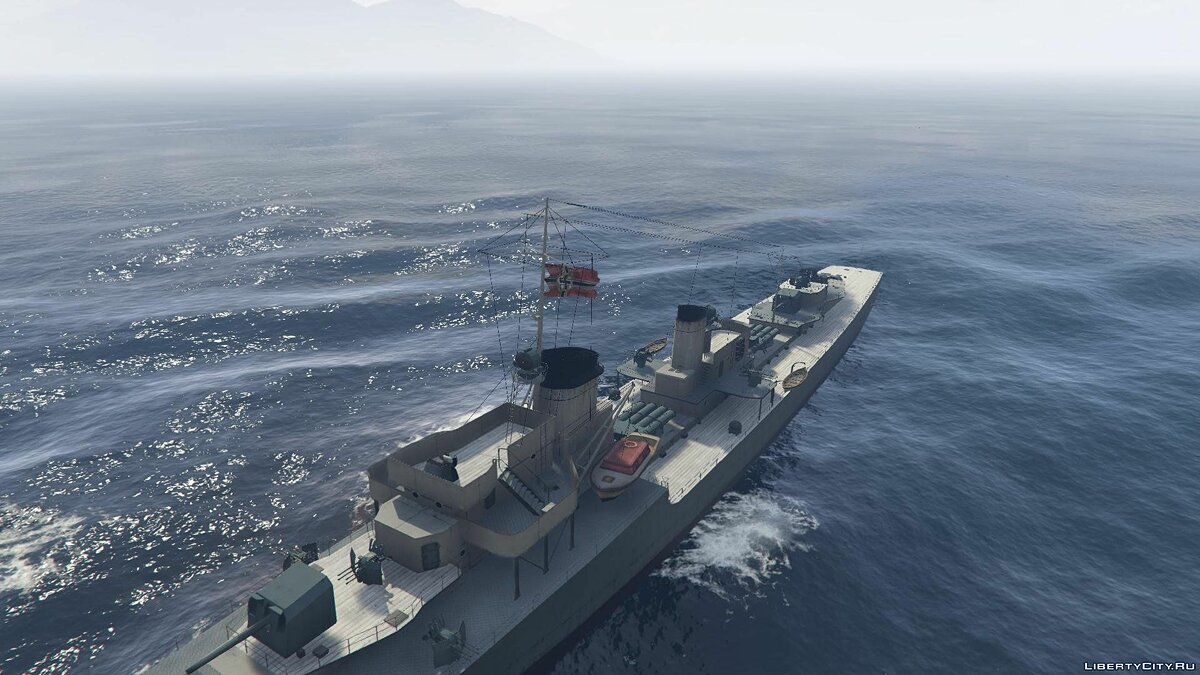 Лодка и катер Destroyer Type 34 [Add-On] для GTA 5