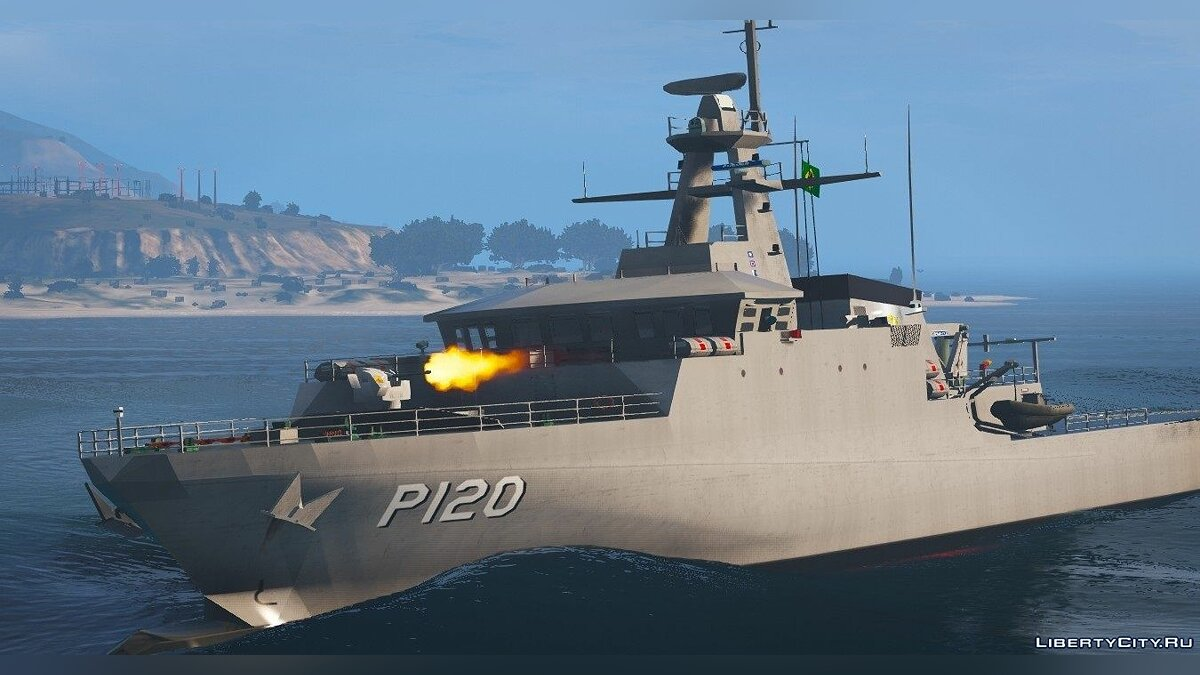 Лодка и катер Class P-120 Amazonas Smoke + Gun [Add-On] 2.0 для GTA 5
