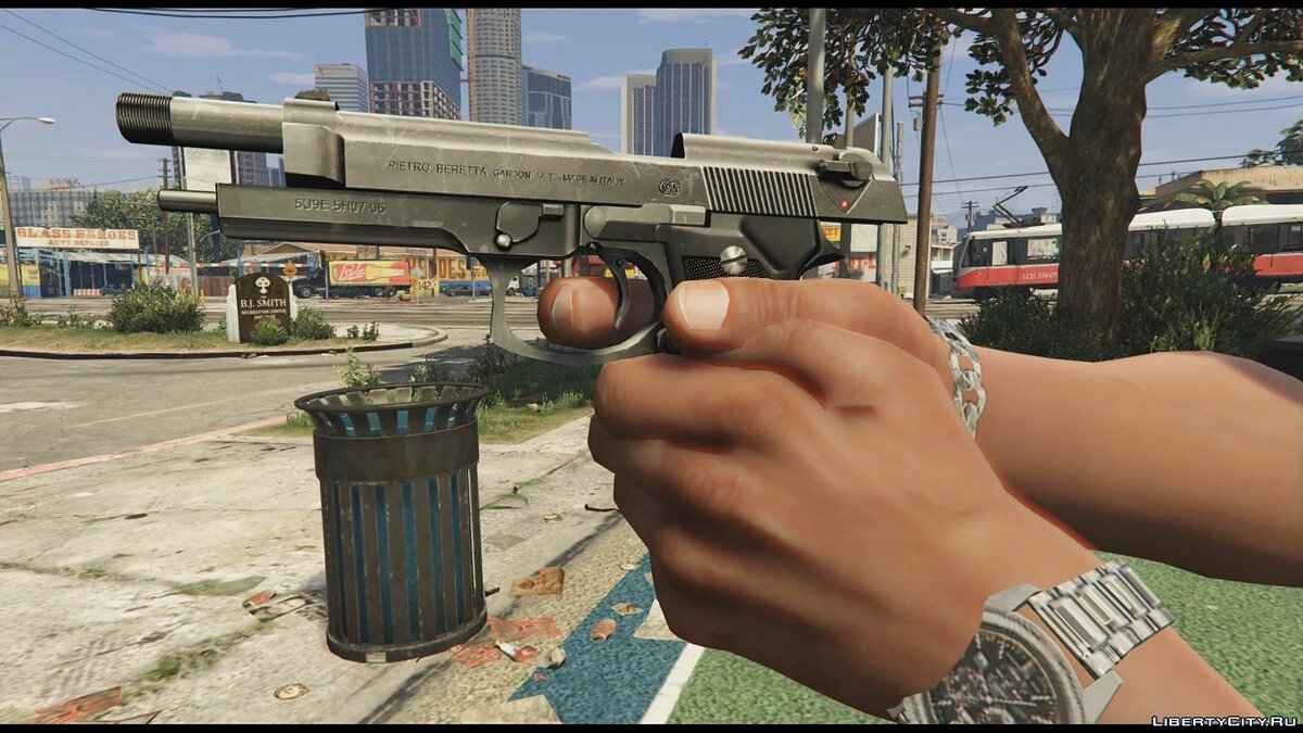 Beretta M9 (Animated) для GTA 5 - скриншот #4