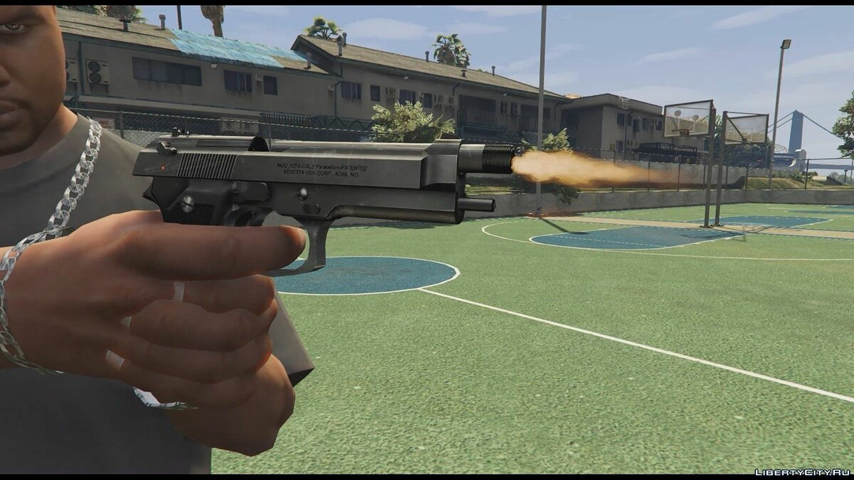 Beretta M9 (Animated) для GTA 5