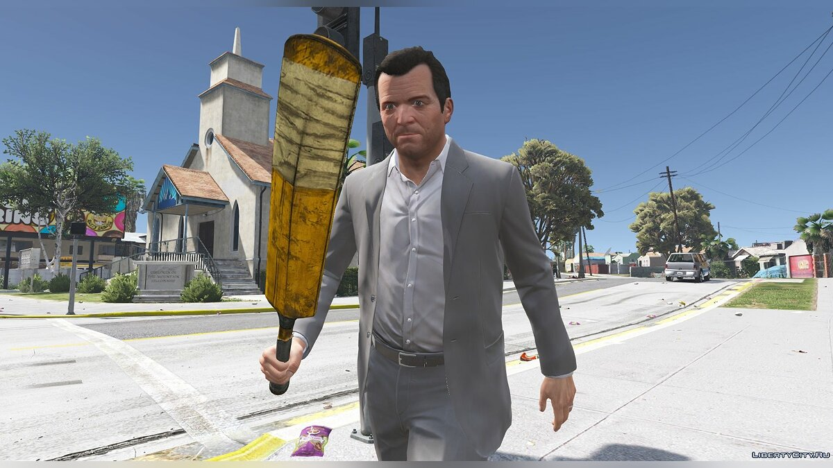 ��ружейный мод Cricket Bat 1.0 для GTA 5
