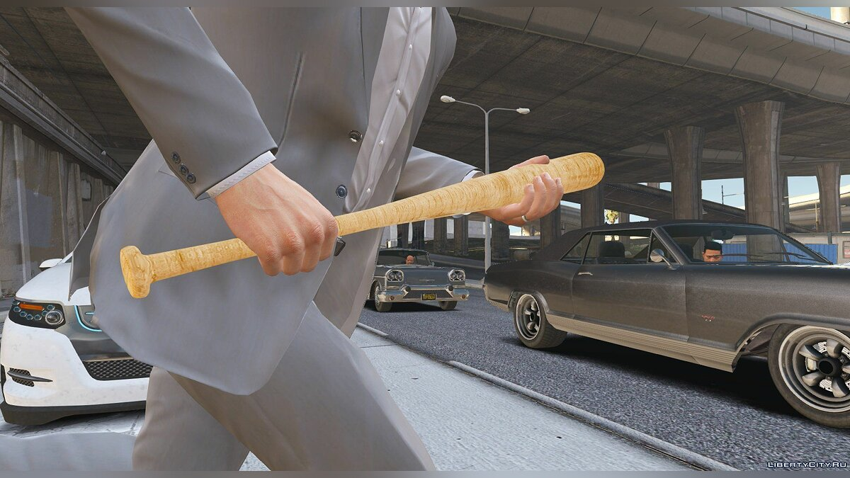 ��ружейный мод Wooden Baseball Bat 1.0 для GTA 5