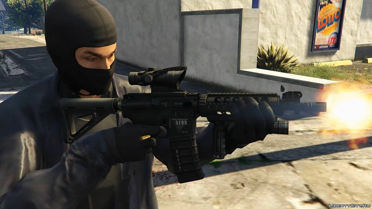 Tactical M4A1 CQB (Animated) 1.0 для GTA 5